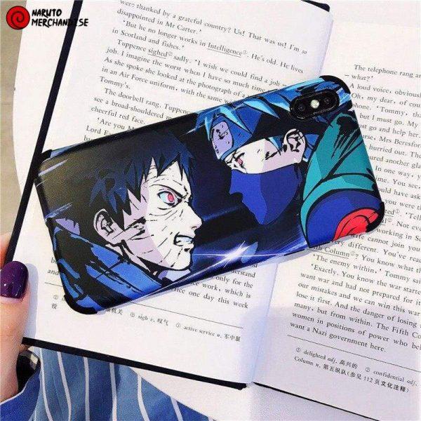 Naruto Iphone Case <br>Kakashi vs Obito