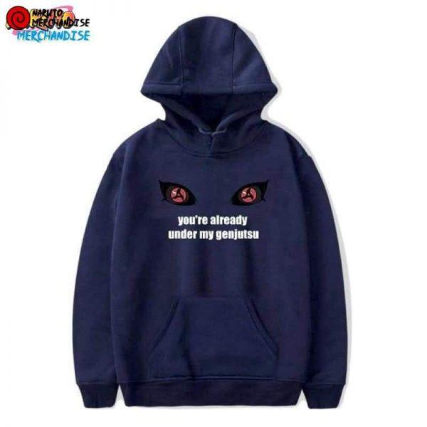 Naruto Hoodie Mangekyou Sharingan - Blue / XXS - Naruto Hoodie