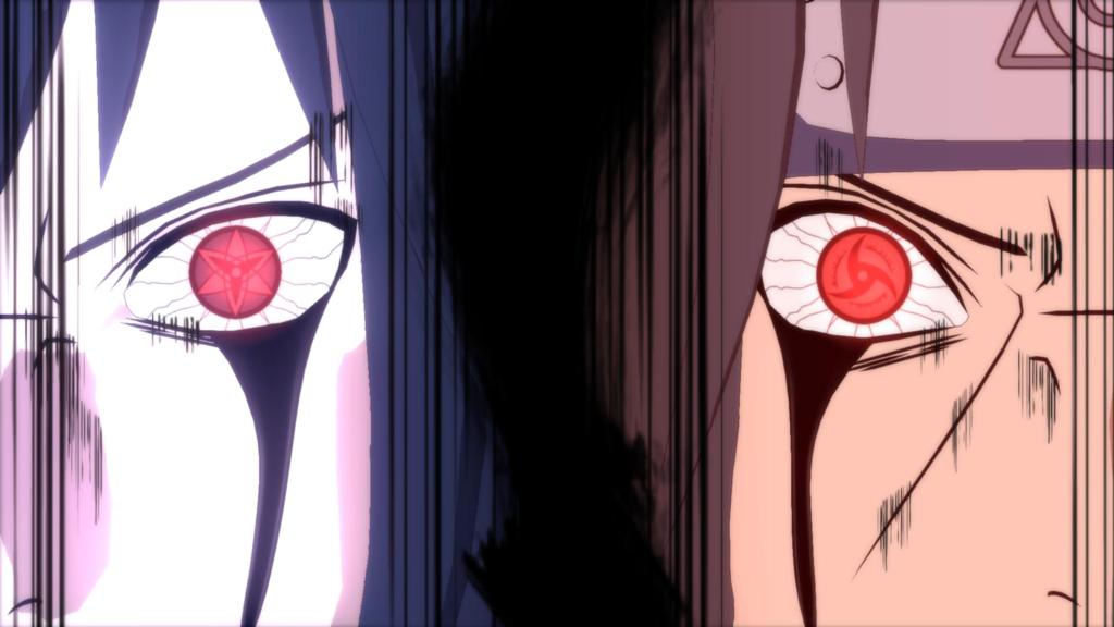 Sasuke Itachi mangekyou sharingan