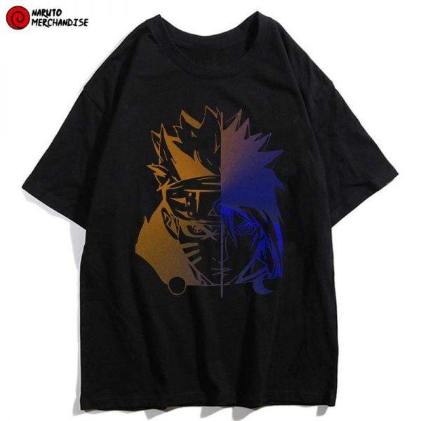 Half Naruto Half Sasuke Shirt