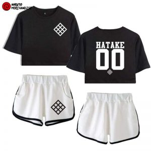Hatake clan crop top