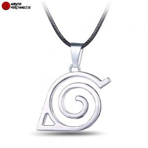 Hidden leaf village necklace