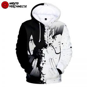 Naruto and Sasuke Yin Yang Hoodie