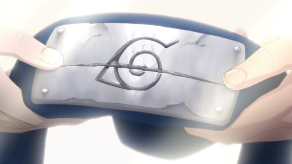 naruto gives back headband to sasuke