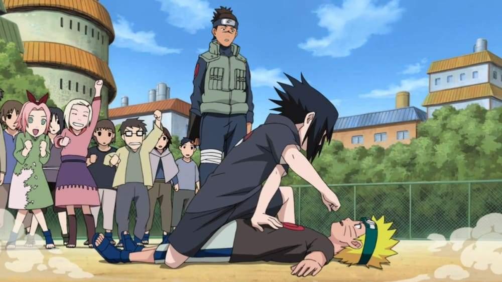 naruto meets sasuke