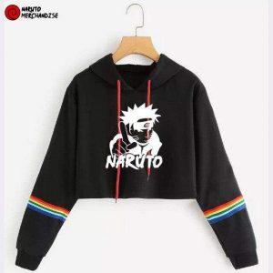 Naruto nindo crop top hoodie