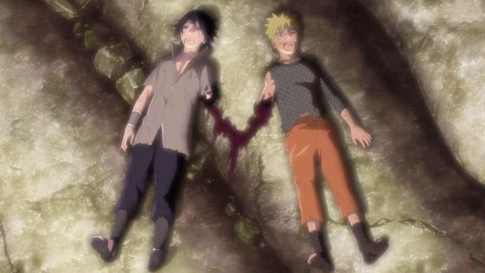 naruto sasuke arms blown off