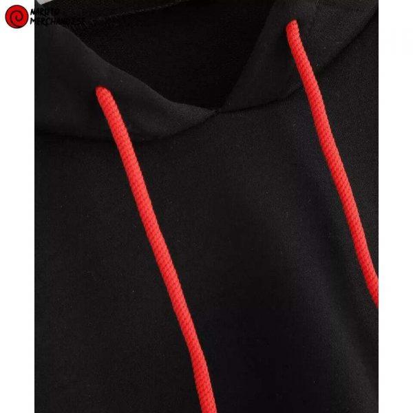 Naruto symbol crop top hoodie