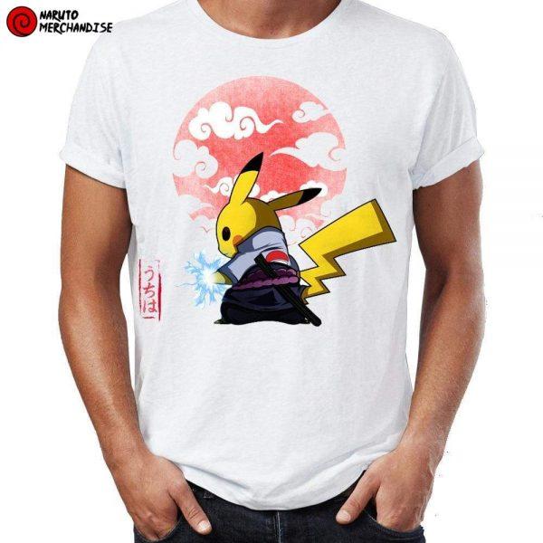 Naruto Shirt <br>Pikachu Sasuke Chidori
