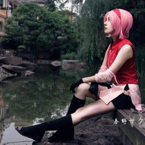 Naruto Cosplay Shoes <br>Sakura Haruno