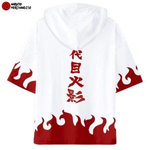 Naruto Short Sleeve Hoodie <br>Minato Namikaze Hokage Cloak