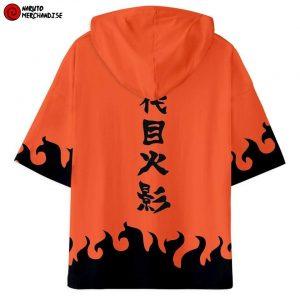 Naruto Short Sleeve Hoodie <br>Youndaime Hokage Cloak