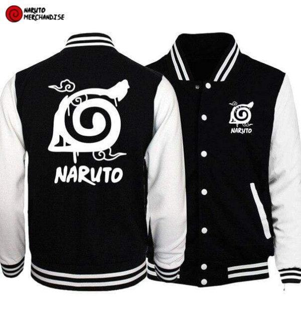 Naruto Baseball Varsity Jacket <br>Hidden Leaf