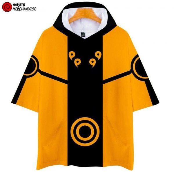 Naruto Short Sleeve Hoodie <br>Naruto Nine-Tails Chakra Mode (Kurama Mode)