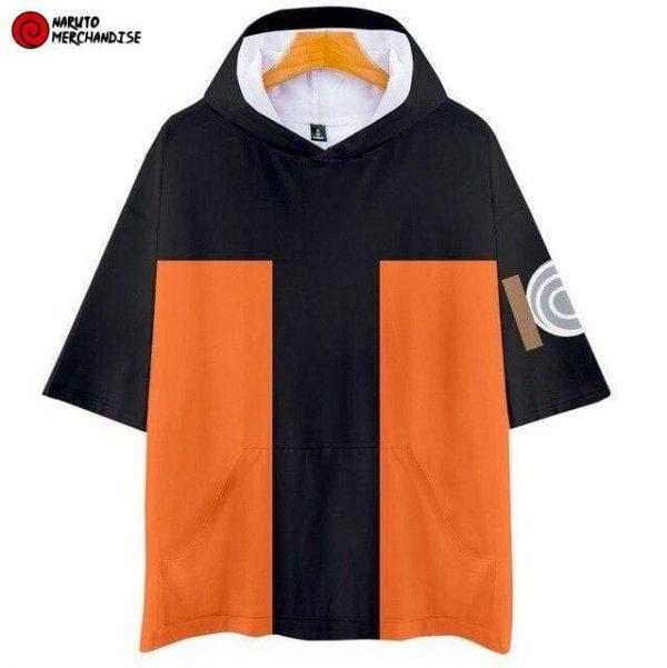 Naruto Short Sleeve Hoodie <br>Naruto Uzumaki (Shippuden)