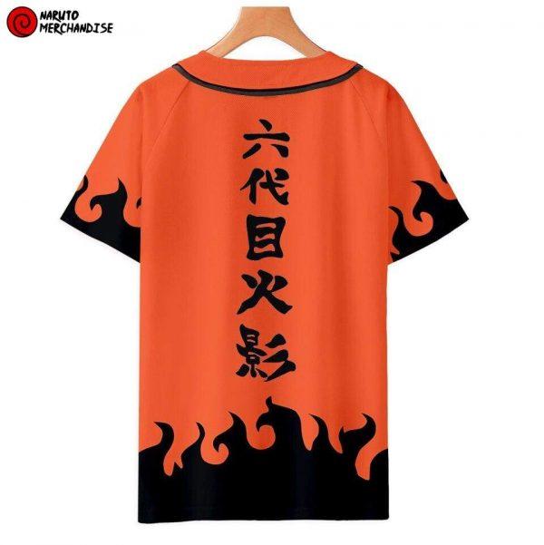 Naruto Baseball Jersey Shirt <br>Hidden Leaf (Orange)