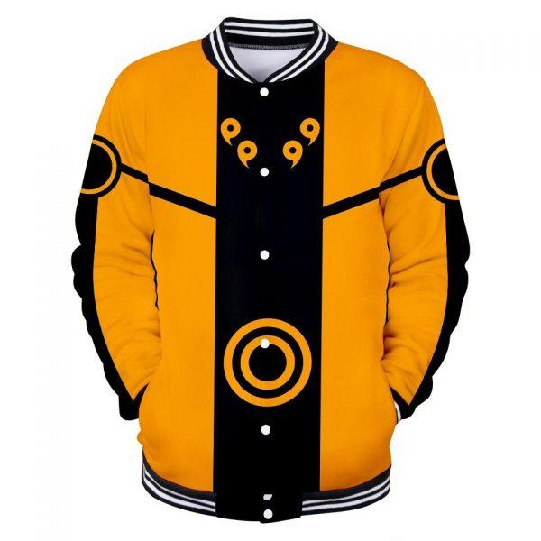 Naruto Baseball Jacket <br>Naruto Kyuubi Chakra Mode