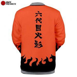 Naruto Baseball Varsity Jacket <br>Sixth Hokage (Orange)