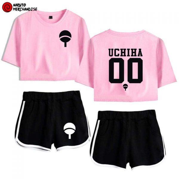 Naruto Crop Top and Shorts Uchiha Clan