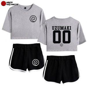 Uzumaki clan crop top