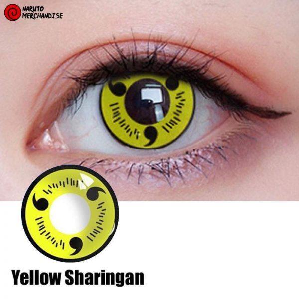 Yellow Sharingan Contacts